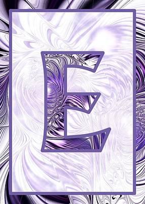 Fractal - Alphabet - E Is For Elegance Poster by Anastasiya Malakhova