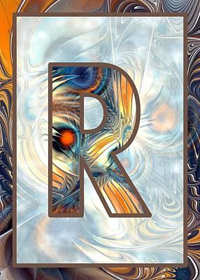 Fractal - Alphabet - R Is For Randomness Poster by Anastasiya Malakhova