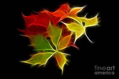 Fractal Leaves Poster by Teresa Zieba