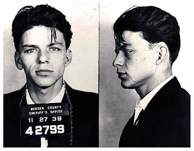 Frank Sinatra Mug Shot Horizontal Poster by Tony Rubino