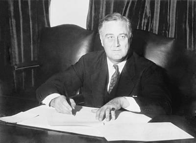 Franklin D. Roosevelt Ended Prohibition Poster by Everett