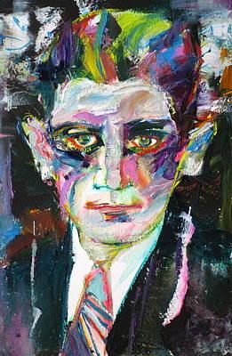 Franz Kafka - Oil Portrait.1 Poster by Fabrizio Cassetta