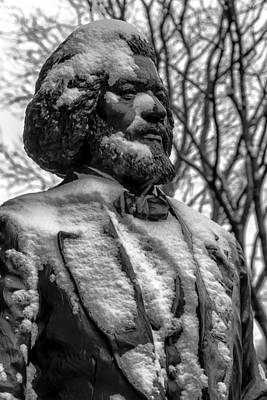 Frederick Douglass Statue Ny Historical Society Poster by Robert Ullmann