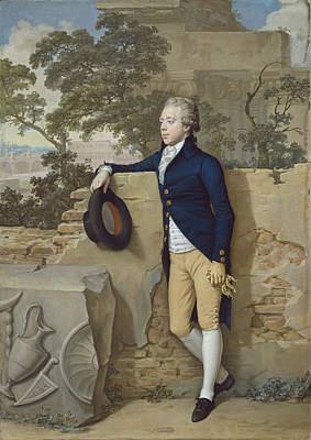 Frederick North - Later Fifth Earl Of Guilford - In Rome Poster by Hugh Douglas Hamilton