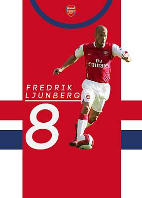 Fredrik Ljunberg Poster by Semih Yurdabak