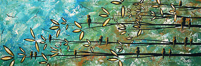Free As A Bird By Madart Poster by Megan Duncanson