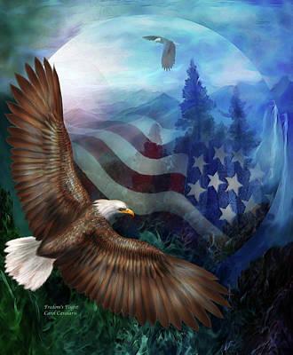 Freedom's Flight Poster by Carol Cavalaris