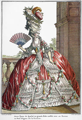 French Fashion Print, 1778 Poster by Granger