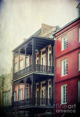 French Quarter Ironwork Balconies Poster by Joan McCool