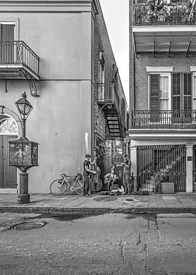 French Quarter Trio Monochrome  Poster by Steve Harrington