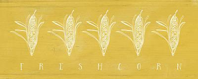 Fresh Corn- Art By Linda Woods Poster by Linda Woods