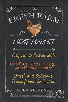Fresh Farm Meat Poster by Debbie DeWitt