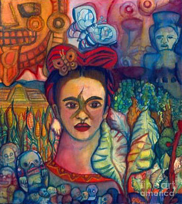 Frida And Mexico Poster by Candace Byington