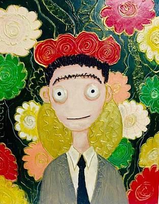 Frida Burton Style Poster by Rene Lopez