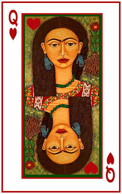 Frida Kahlo Queen Of Hearts Poster by Madalena Lobao-Tello