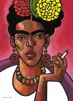 Frida Listening Poster by Douglas Simonson
