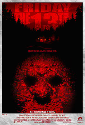 Friday The 13th Alternative Poster Poster by Christopher Ables