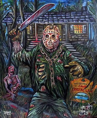 Friday The 13th Poster by Jose Mendez