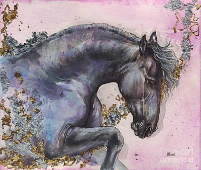 Friesian Horse 2016 02 03 Poster by Angel Tarantella