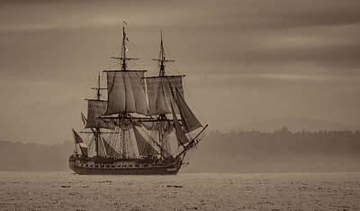 Frigate Hermione 02 Poster by Fred LeBlanc