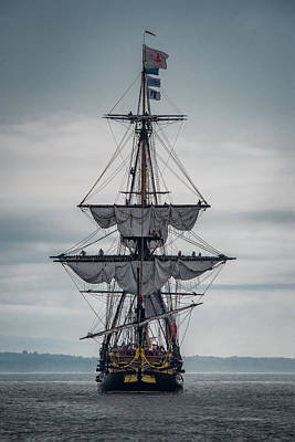 Frigate Hermione 03 Poster by Fred LeBlanc