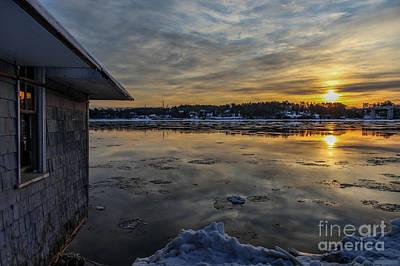 Frigid Sunrise In Maine Poster by Joe Faragalli