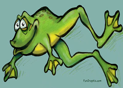 Frog Poster by Kevin Middleton