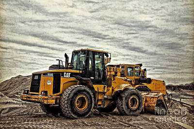 Front End Loader Poster by Tom Gari Gallery-Three-Photography