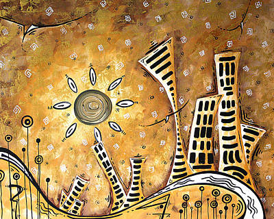Frosted City By Madart Poster by Megan Duncanson
