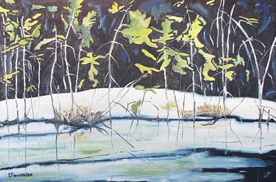 Frozen Marsh Poster by Francois Fournier