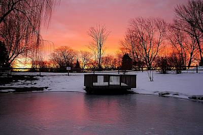 Frozen Sunrise Poster by Frozen in Time Fine Art Photography