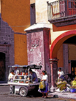 Fruit Stand In San Miguel Poster by Linda  Parker