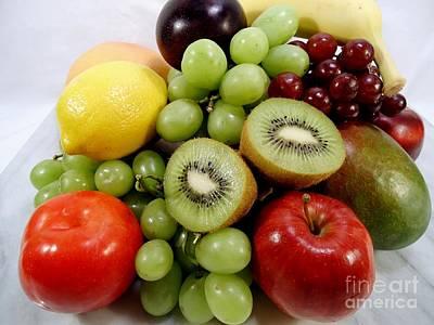 Fruit Still Life Poster by Karen Wallace