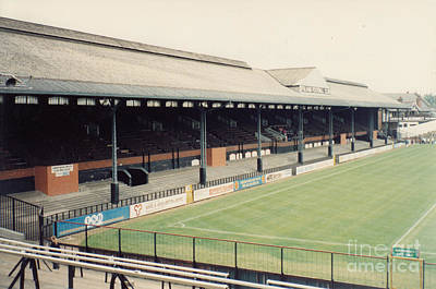 Fulham - Craven Cottage - East Stand Stevenage Road 3 - Leitch - August 1991 Poster by Legendary Football Grounds