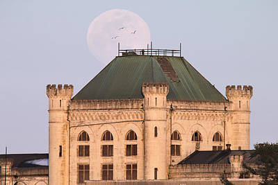 Full Moon Over Portsmouth Naval Prison Poster by Eric Gendron