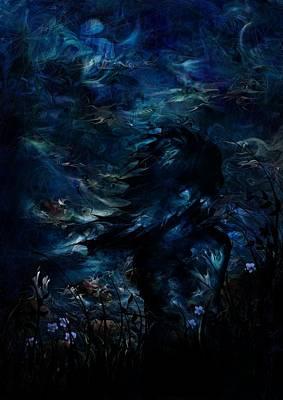 Full Moon Poster by Rachel Christine Nowicki