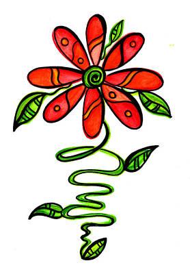 Fun Flower 3 Poster by Sandi Fender