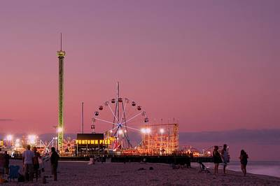 Funtown Pier At Sunset IIi - Jersey Shore Poster by Angie Tirado