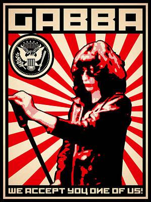 Gabba Poster by Lance Vaughn