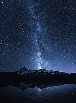 Galaxies Reflection Poster by Toby Harriman