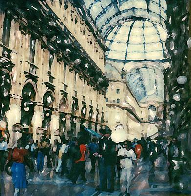Galleria Milan Poster by Linda Scharck
