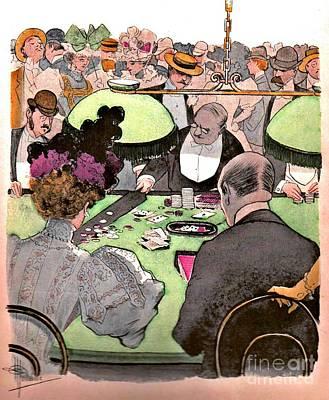 Gambling 1897 Poster by Padre Art