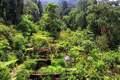 Garden At The Base Of Monserrate Poster by Jess Kraft