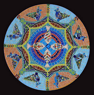 Garden Mandala  Poster by Anju Jolly