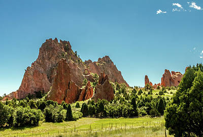 Garden Of The Gods II Poster by Bill Gallagher