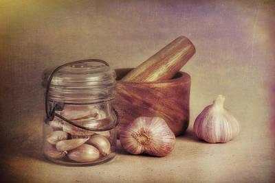 Garlic In A Jar Poster by Tom Mc Nemar