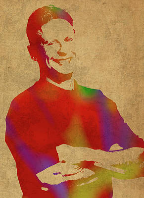 Gary Johnson Libertarian Politician Watercolor Portrait Poster by Design Turnpike