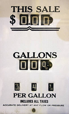 Gas Pump Meter 1940's Poster by Daniel Hagerman