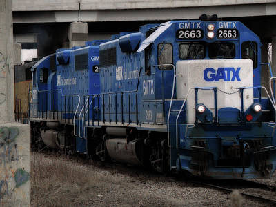 Gatx Freight Train Poster by Scott Hovind