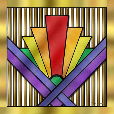 Rainbow Art Deco Poster by Chuck Staley